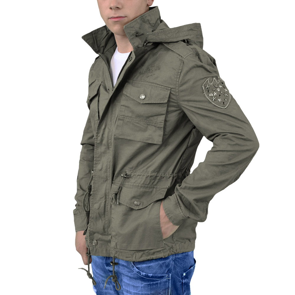 Military Jacket American Rag, Calvin Klein and Ralph Lauren offer comfortable military jackets that complement different outfits. A polyester and machine-washable military jacket is a fashion statement worth investing in.