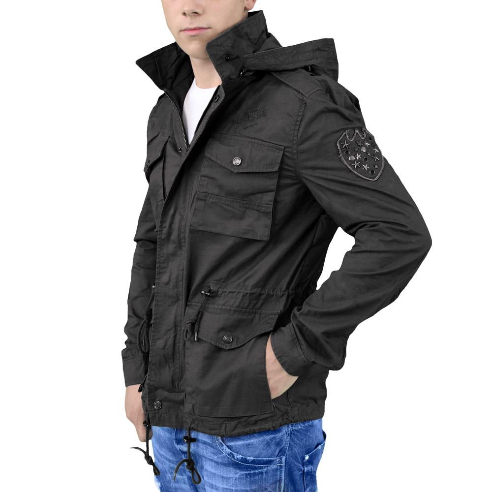 surplus militaire veste army style manteau hommes combat parka avec capuche coto ebay. Black Bedroom Furniture Sets. Home Design Ideas