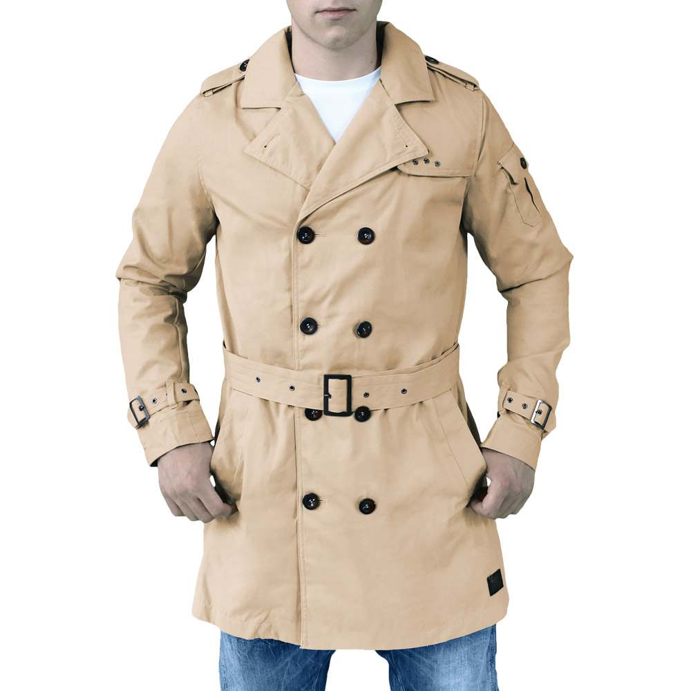 Mens Military Surplus Trench Coat