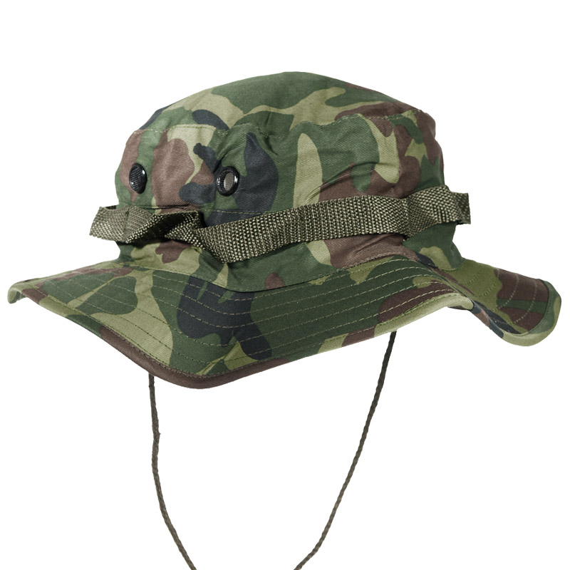 ARMY TACTICAL JUNGLE BOONIE BUSH HAT BUSHCRAFT HIKING TRAVEL WOODLAND CAMO S-XXL