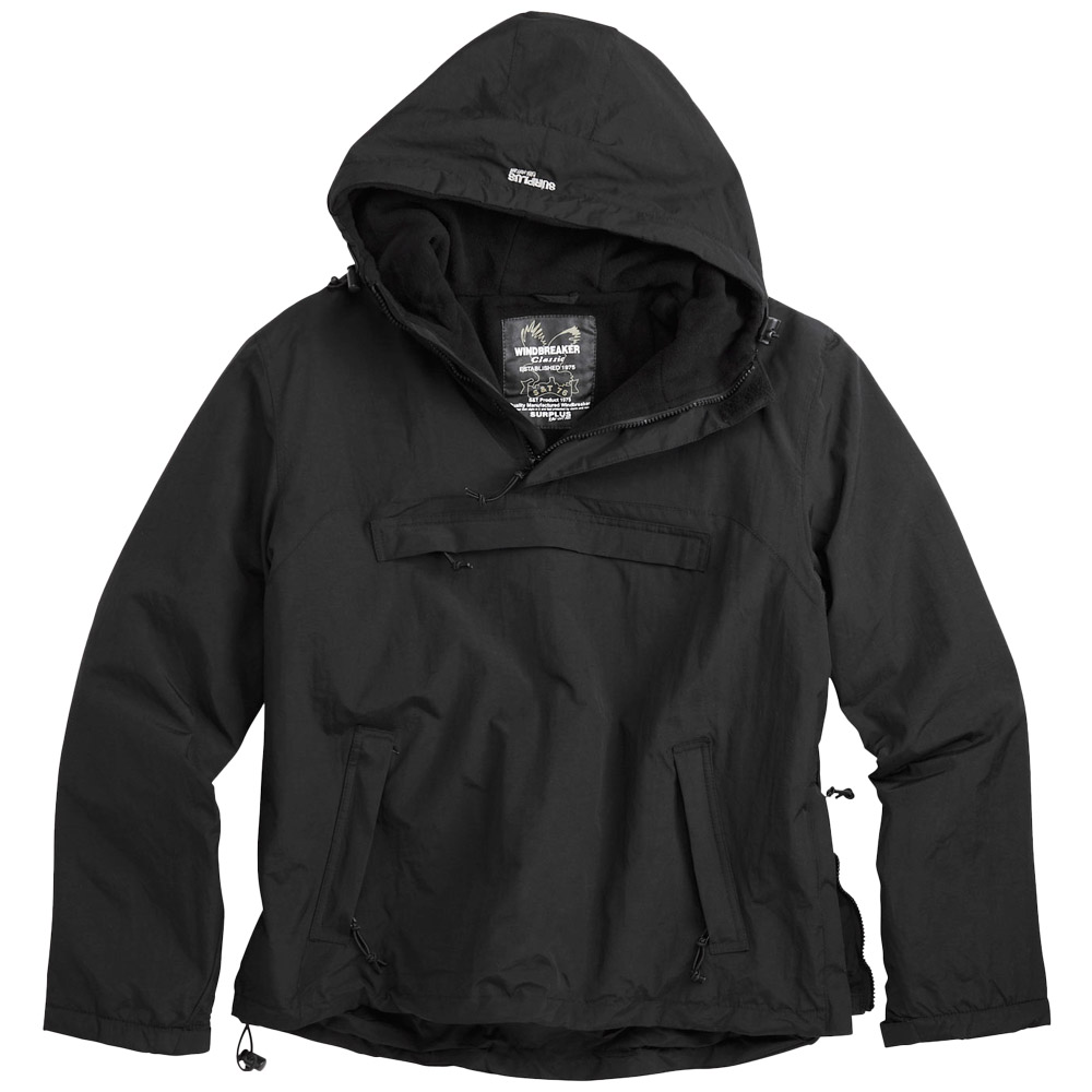 Black Windbreaker Jacket With Hood rIqtjx