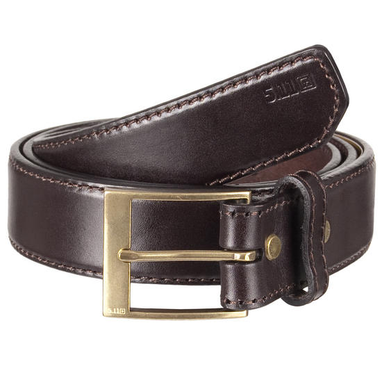 "5.11 Leather Casual Belt 1.5"" Classic Brown"