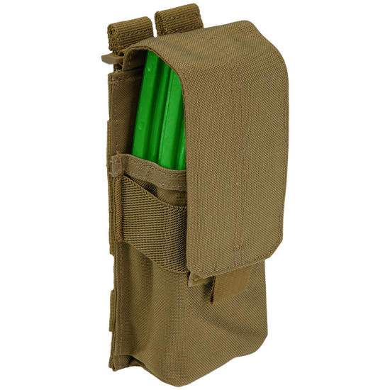 5.11 Stacked Single Mag Pouch with Cover Flat Dark Earth