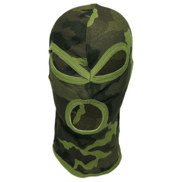 MFH 3 Hole Balaclava Lightweight Cotton Czech Woodland
