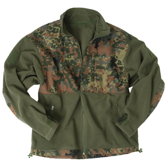 Mil-Tec Fleece Jacket with Ripstop Patch Flecktarn