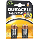 Duracell Plus Power AAA Cell 4 Pack