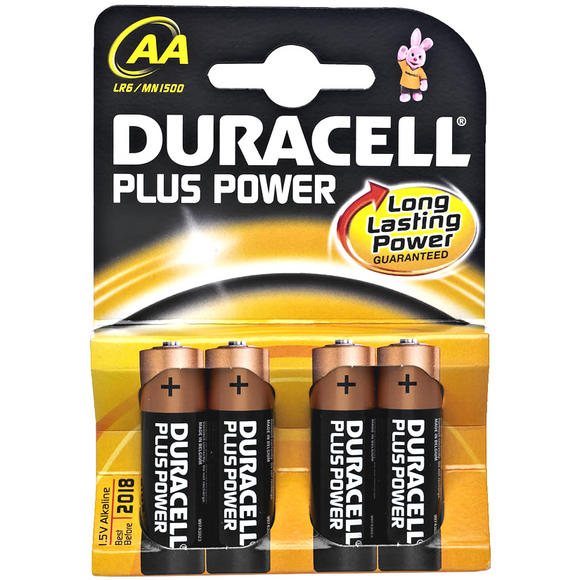 Duracell Plus Power AA Cell 4 Pack