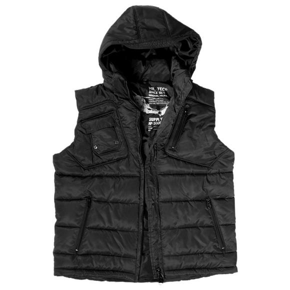 Mil-Tec Pro Vest with Detachable Hood Black