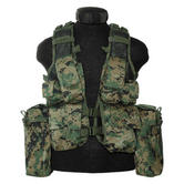 Mil-Tec South African Assault Vest Digital Woodland