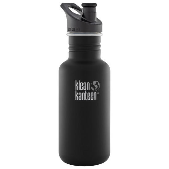 Klean Kanteen Classic 532ml Bottle with Sport Cap 3.0 Shale Black