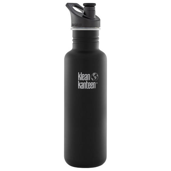 Klean Kanteen Classic 800ml Bottle with Sport Cap 3.0 Shale Black
