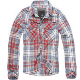 Brandit Check Shirt Red / Grey