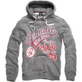 Brandit Classic Mountain Hoodie Grey / Red