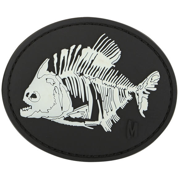 Maxpedition Piranha Bones (Glow) Morale Patch