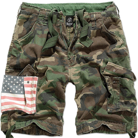 Brandit Urban Legend Stars & Stripes Shorts Woodland