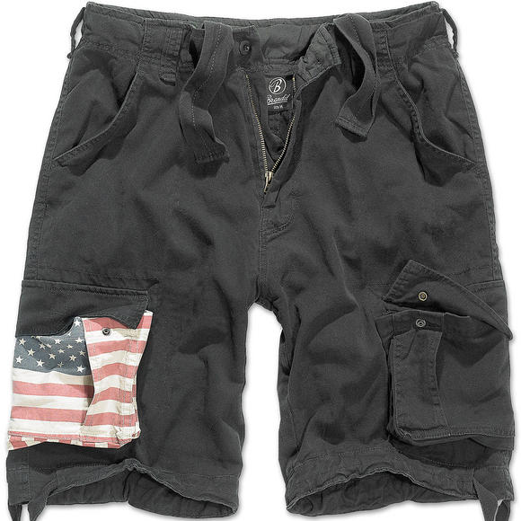 Brandit Urban Legend Stars & Stripes Shorts Black