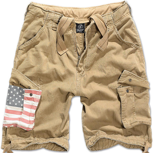 Brandit Urban Legend Stars & Stripes Shorts Beige