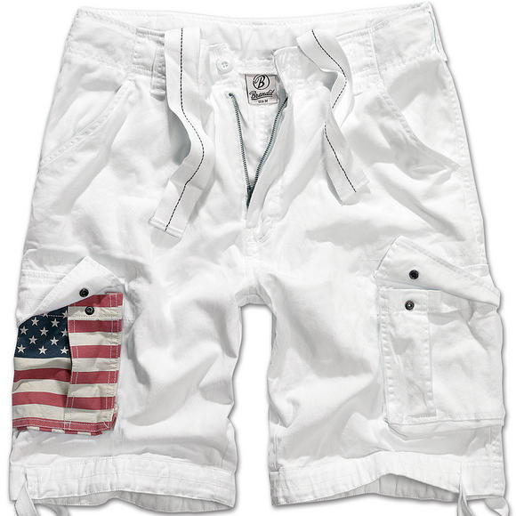 Brandit Urban Legend Stars & Stripes Shorts White