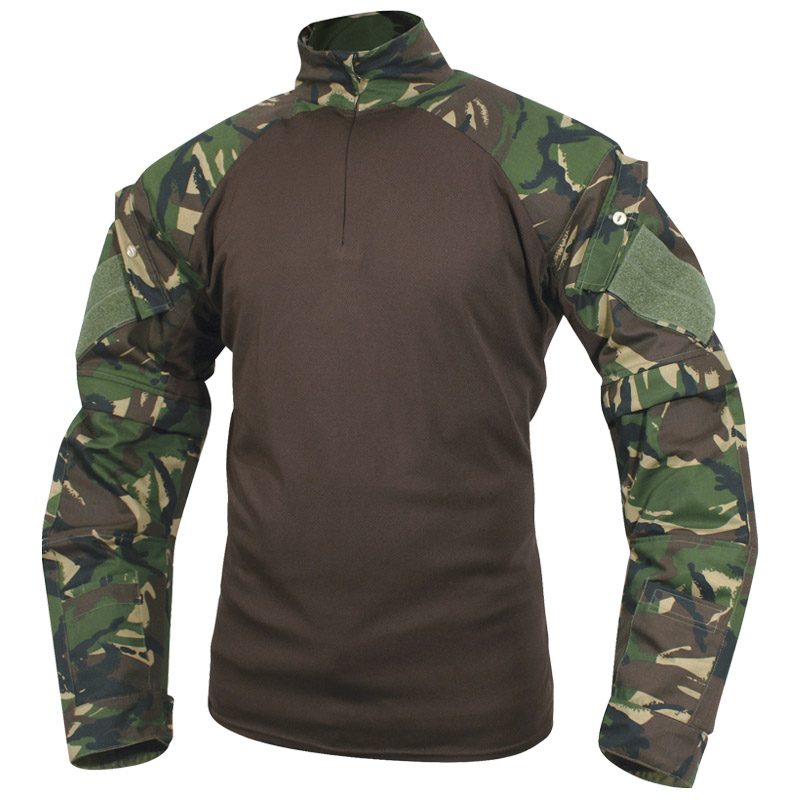 VIPER-MILITARY-PATROL-UBACS-SHIRT-ZIP-OFF-SLEEVES-AIRSOFT-CADET-BRITISH-DPM-CAMO