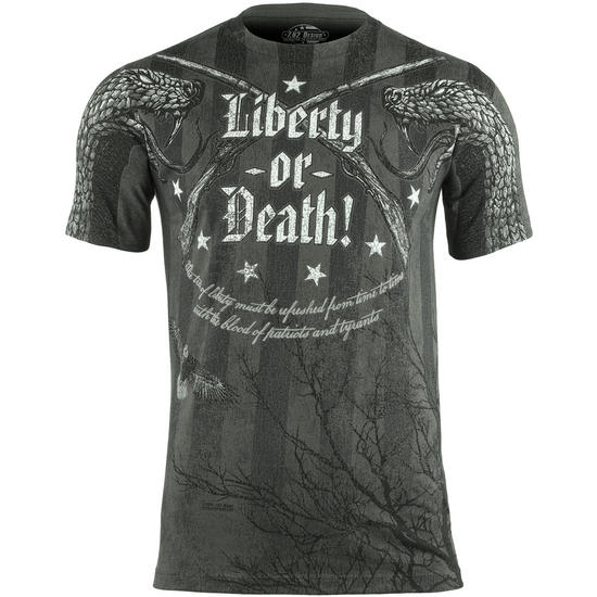 7.62 Design Liberty or Death T-Shirt Charcoal