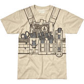 7.62 Design Bullet Bouncer T-Shirt Sand