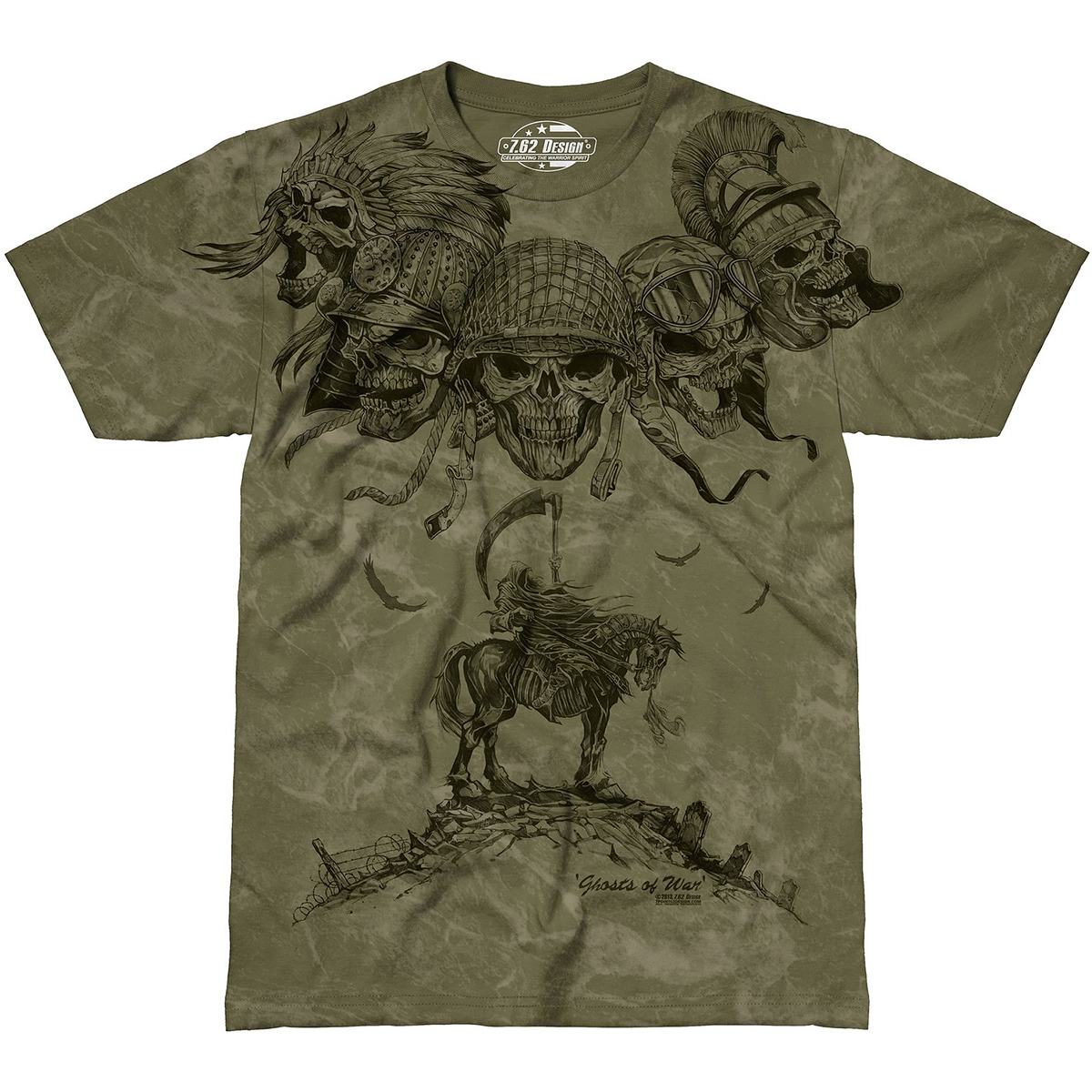 Design Ghosts Of War T Shirt Military Green
