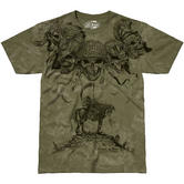 7.62 Design Ghosts of War T-Shirt Military Green