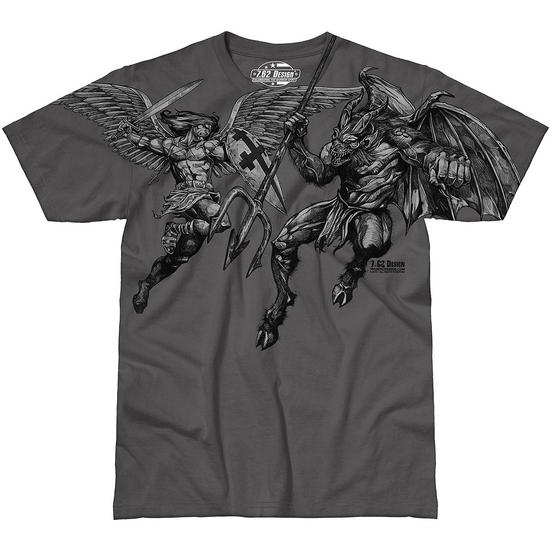 7.62 Design St. Michael Vengeance T-Shirt Charcoal