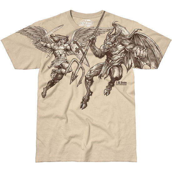 Design st michael vengeance t shirt sand for Fort worth t shirt printing