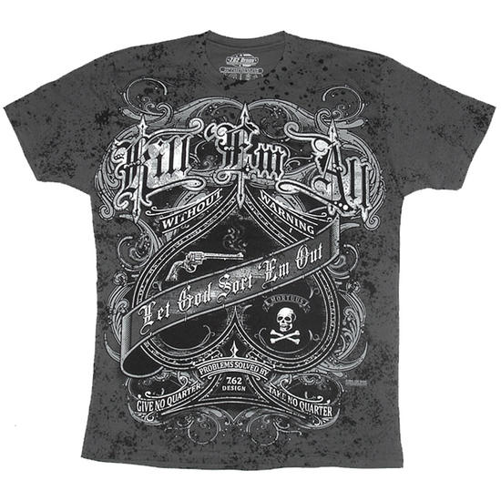 7.62 Design Kill Em All T-Shirt Charcoal