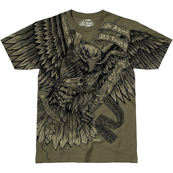 7.62 Design In Arms We Trust T-Shirt Military Green