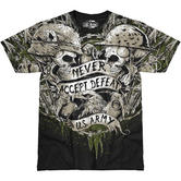 7.62 Design Army Never Accept Defeat T-Shirt Black
