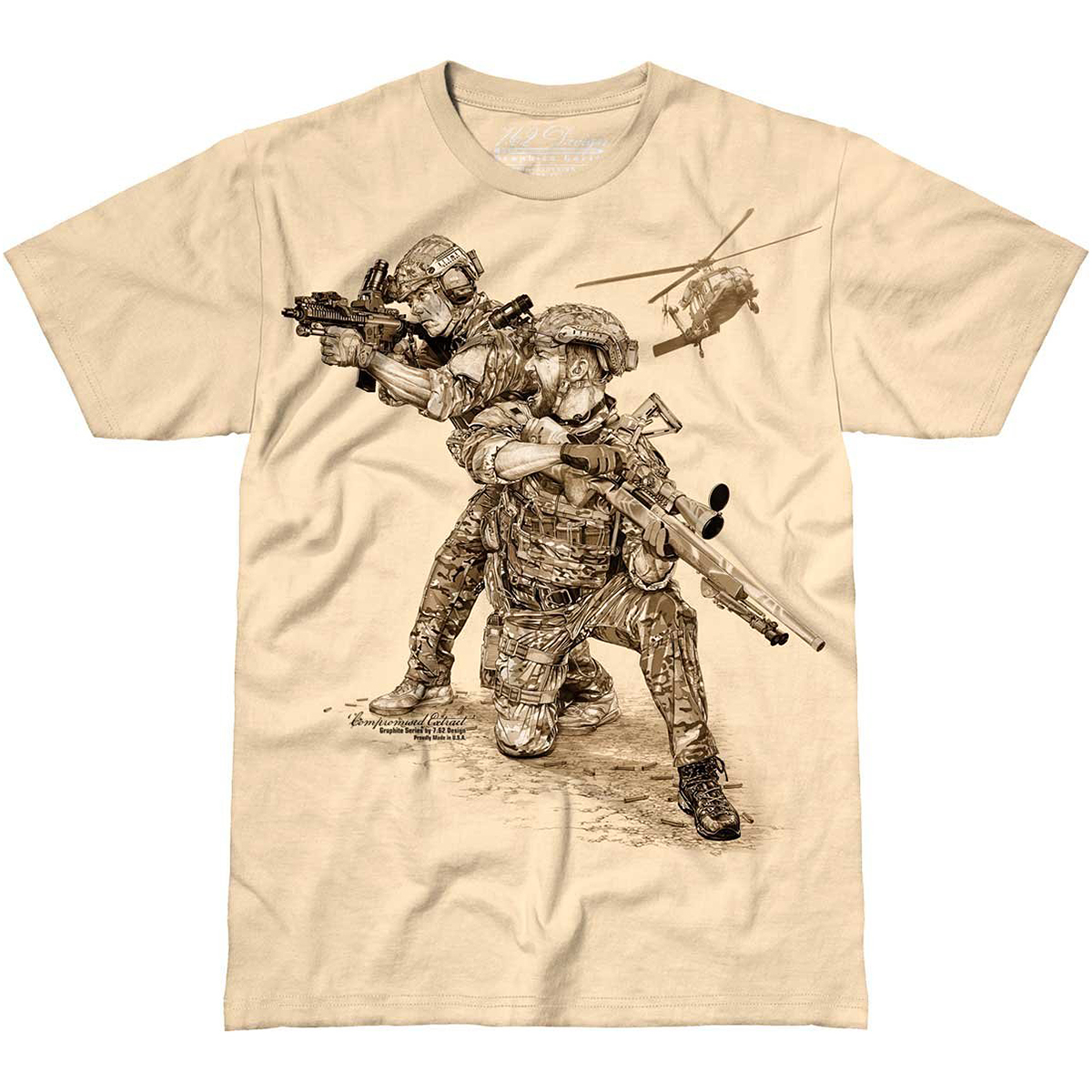 762 DESIGN COMPROMISED EXTRACT MENS T SHIRT MILITARY