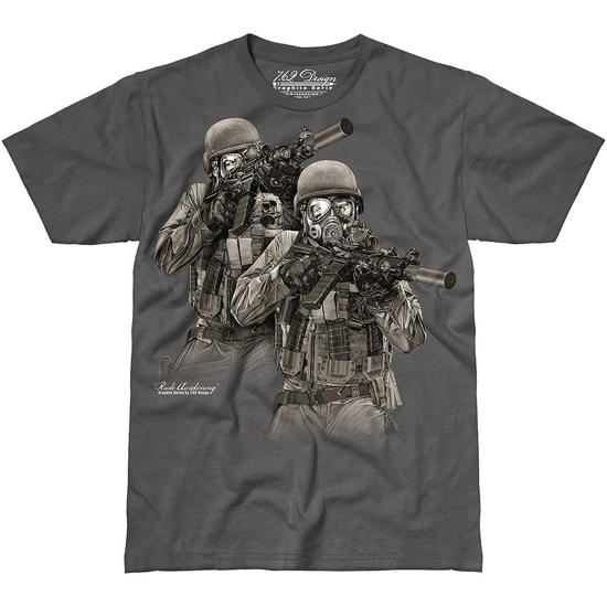 7.62 Design Rude Awakening T-Shirt Charcoal