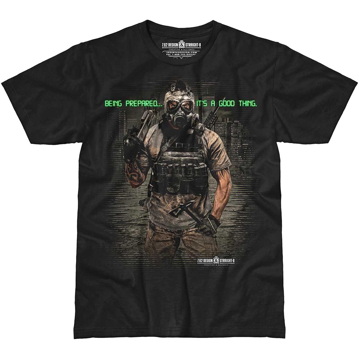 Design Mens Being Prepared T Shirt Army Warrior