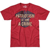 7.62 Design Patriotism is not a Crime T-Shirt Scarlet Heather