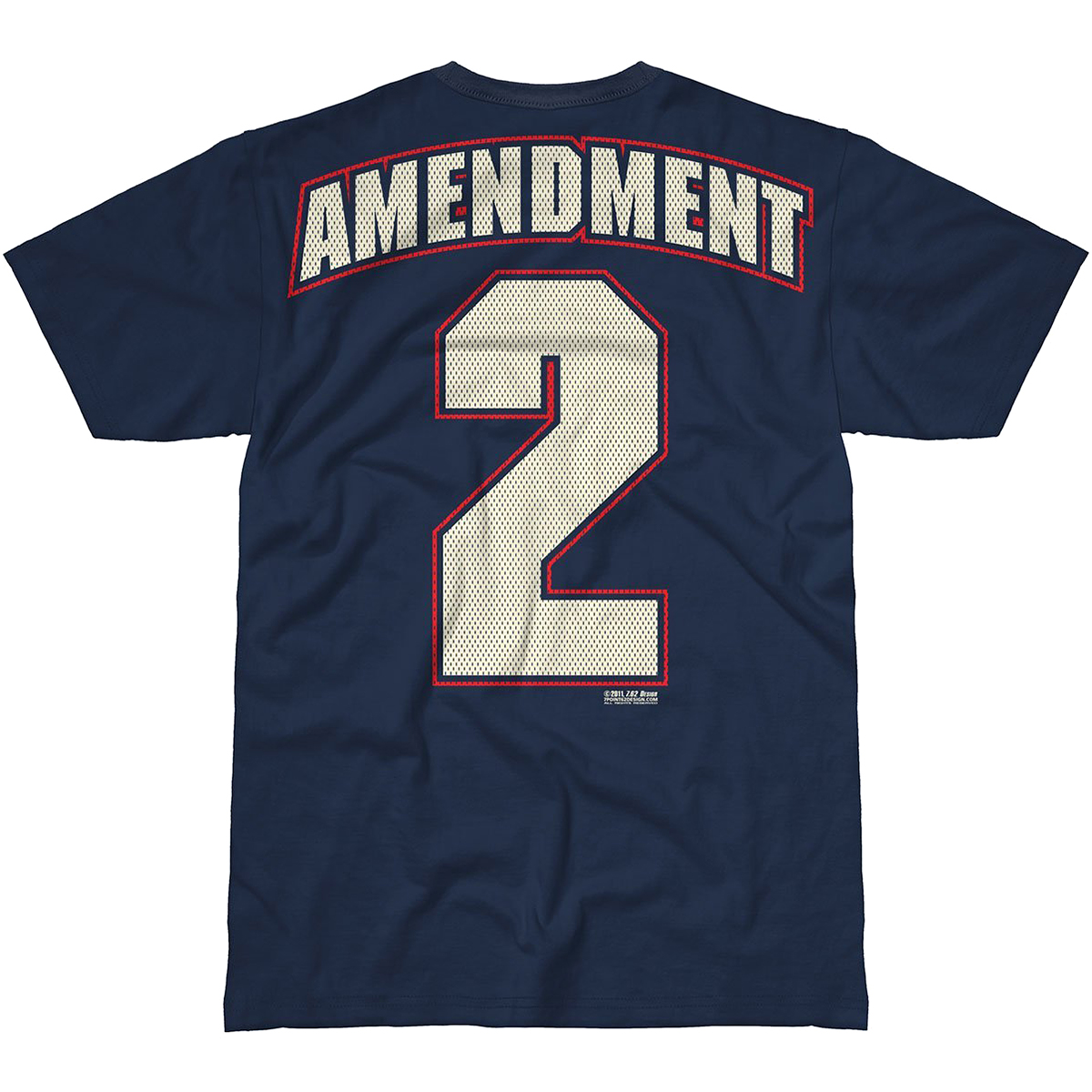 Design 2nd Amendment Freedom T Shirt Navy Blue