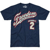 7.62 Design 2nd Amendment Freedom T-Shirt Navy Blue