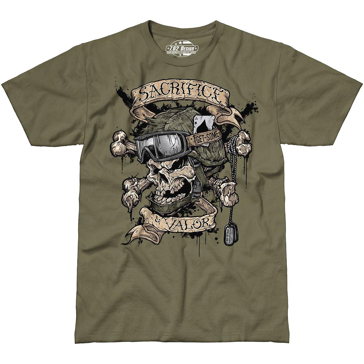 Design sacrifice valor mens t shirt airsoft sniper for Army design shirts online