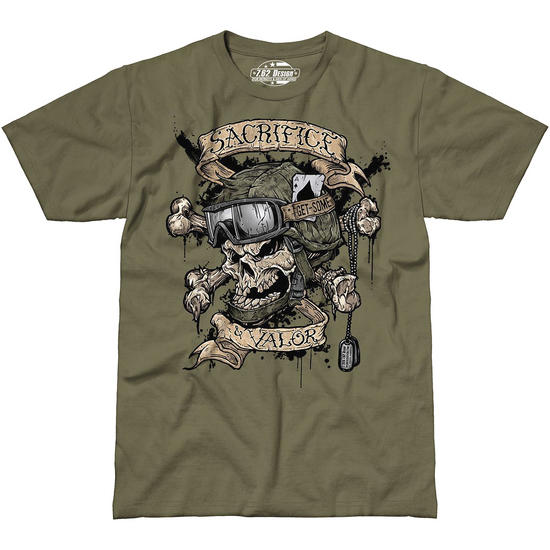 7.62 Design Sacrifice & Valor T-Shirt Military Green
