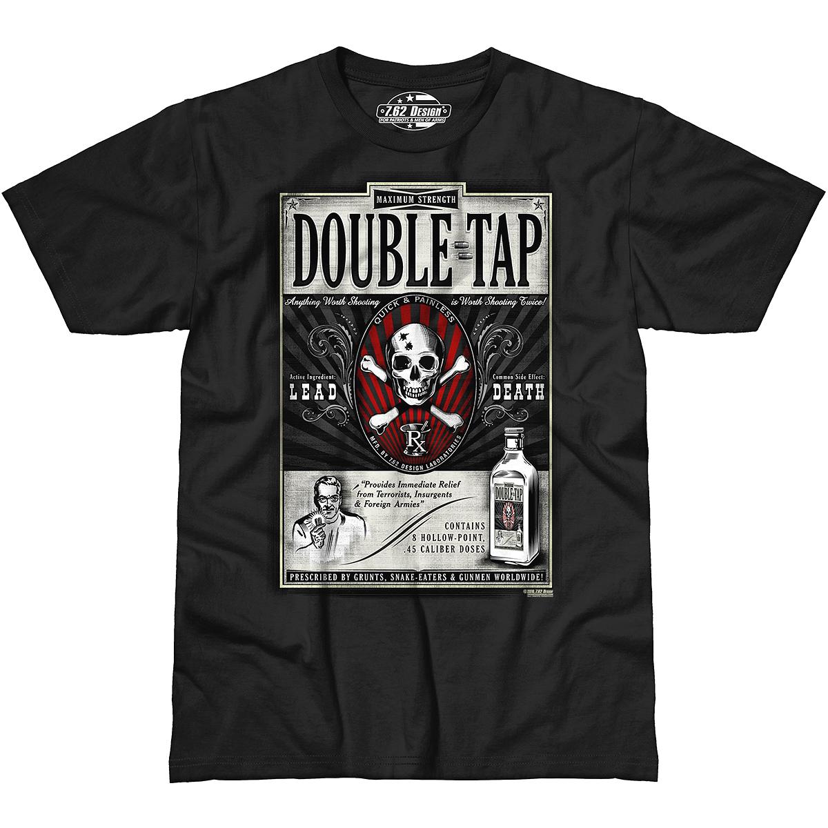 Design Double Tap T Shirt Black Design