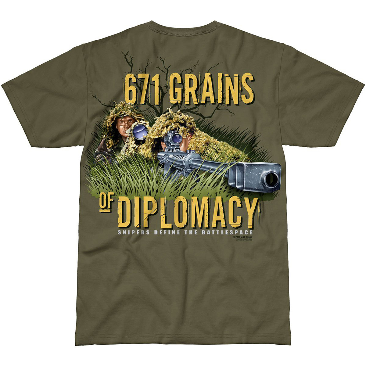 Design sniper team t shirt military green for Army design shirts online