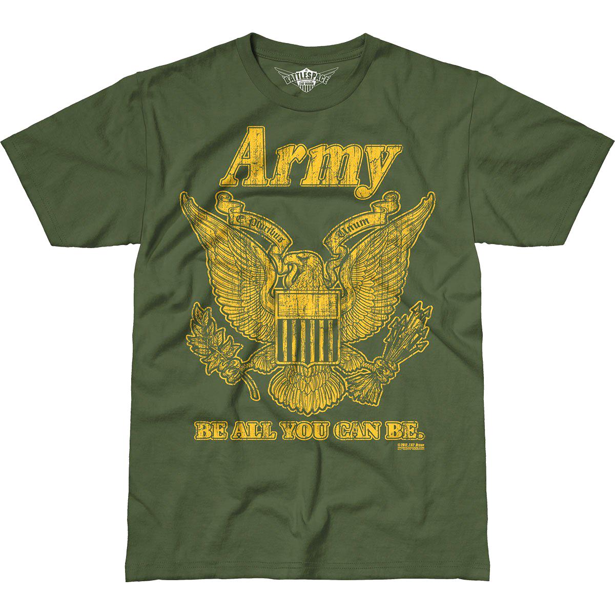 Design Army Retro Battlespace T Shirt Mens Tee