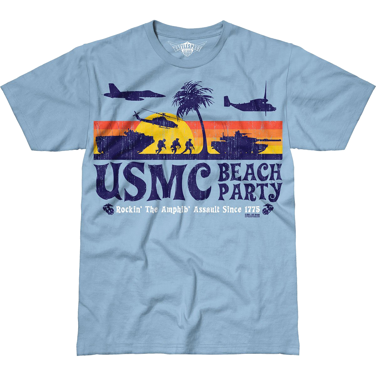 Design Usmc Beach Party Battlespace T Shirt Marines