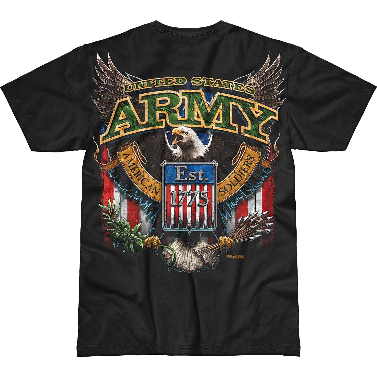 Design Army Fighting Eagle Battlespace T Shirt Black