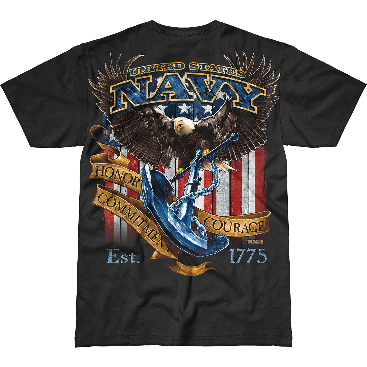 Design Usn Fighting Eagle Battlespace T Shirt Mens
