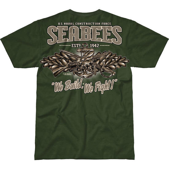 7.62 Design USN Seabees Vintage Battlespace T-Shirt Military Green