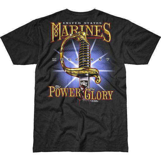 7.62 Design USMC Power & Glory Battlespace T-Shirt Black