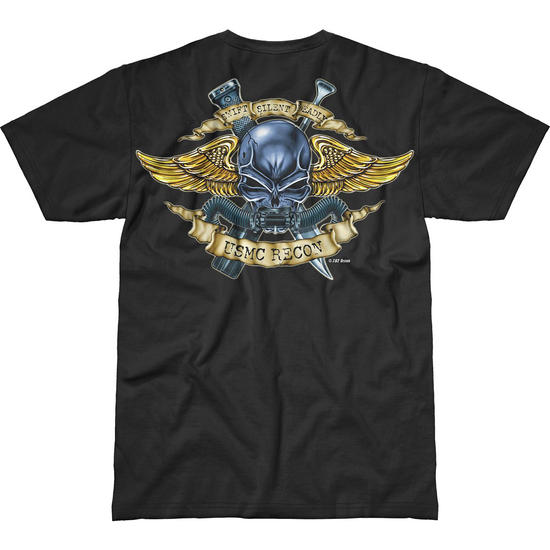 7.62 Design USMC Recon Jack Of All Trades Battlespace T-Shirt Black