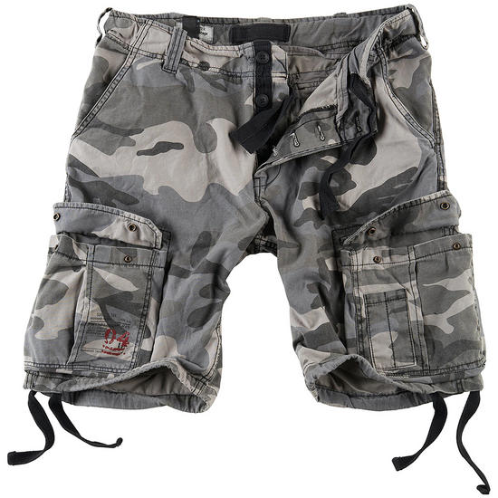 Surplus Airborne Vintage Shorts Washed Night Camo
